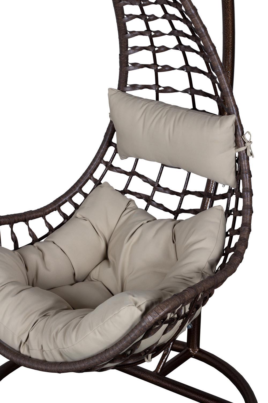 h ngesessel lugano geflecht tabak mit gestell h ngestuhl. Black Bedroom Furniture Sets. Home Design Ideas